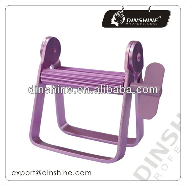 Custom logo for pink hair salon metal tube squeezer
