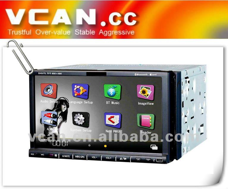 7 inch 2 din car gps video dvd Compatible with DVD/VCD/CD/MP3/MP4/divx vcan0053