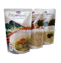 Plastic Frozen Food Packaging Bag with window/Custom Disposable Plastic Bag for Meat/Sea food with window