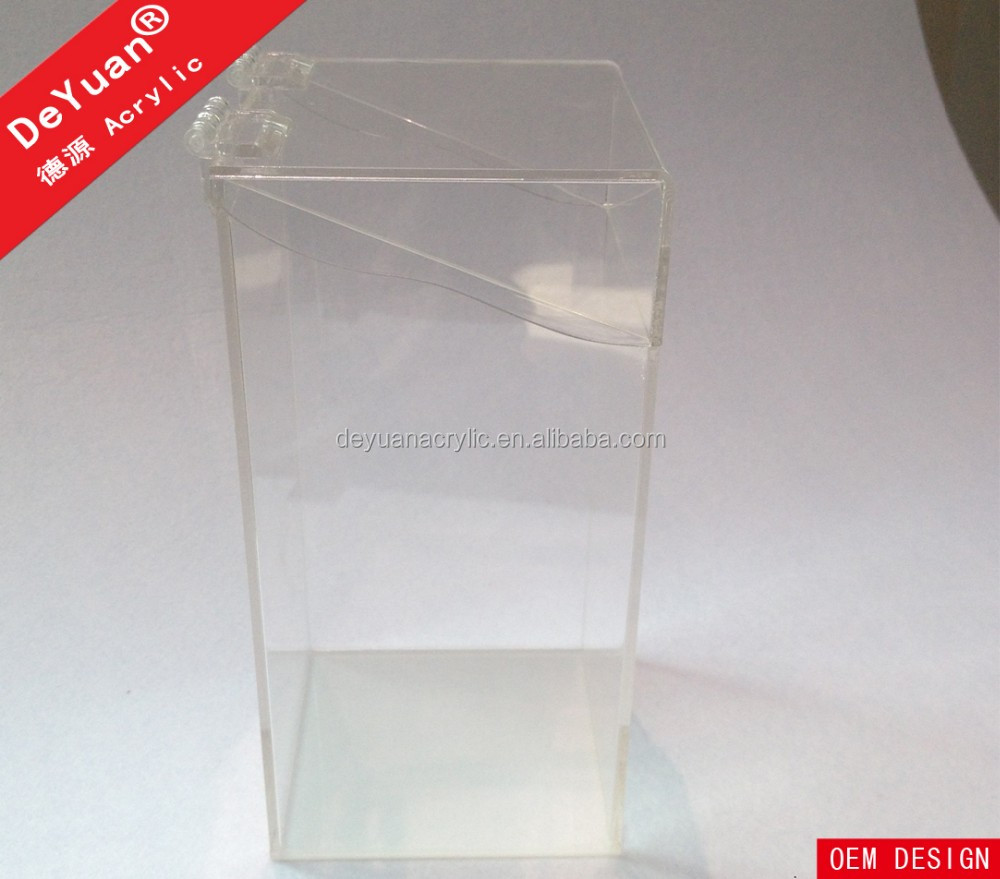 Plexiglass Acrylic Makeup Brush Holder with Lids