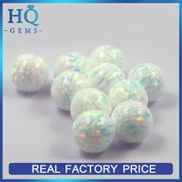Lab Created Round Beads White Synthetic Opal Stone Manufacturers Gemstone