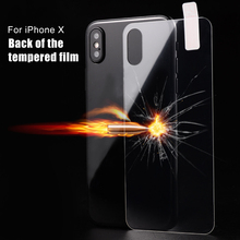 9H Tempered Glass Back Screen Protector For iPhone 10 X Full Cover Toughened Protective Film For iPhoneX Glass