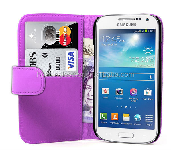 flip armor case for Samsung S4 Mini /Book style flip armor case for Samsung S4 Mini