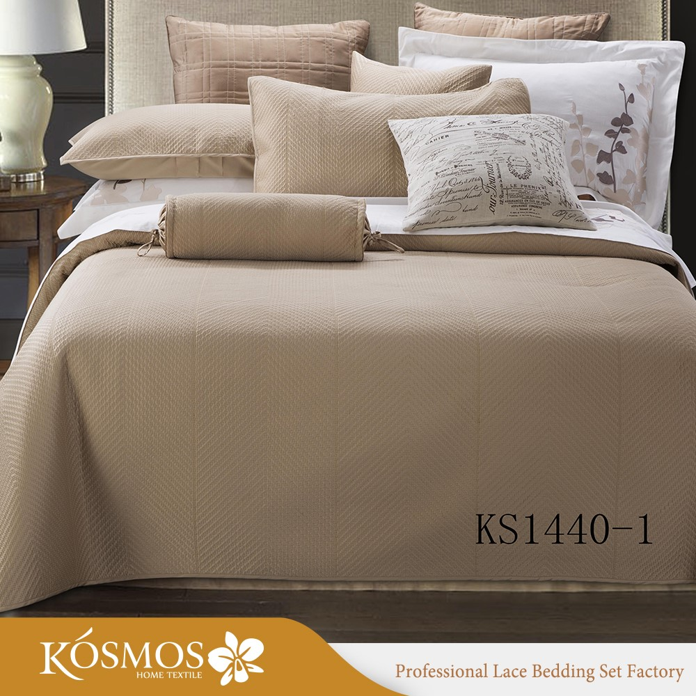 3pcs kosmos wholesale queen quilt king embroidered satin bed cover sheet