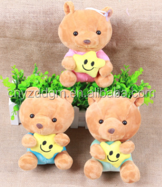 Stuffed Animal Plush Toys Bear Holding Star Stuffed Hanging Toys