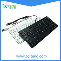 2016 Best selling wired USB keyboard notebook full White/Black colour computer
