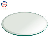Clear Tinted Tempered Glass Furniture Round