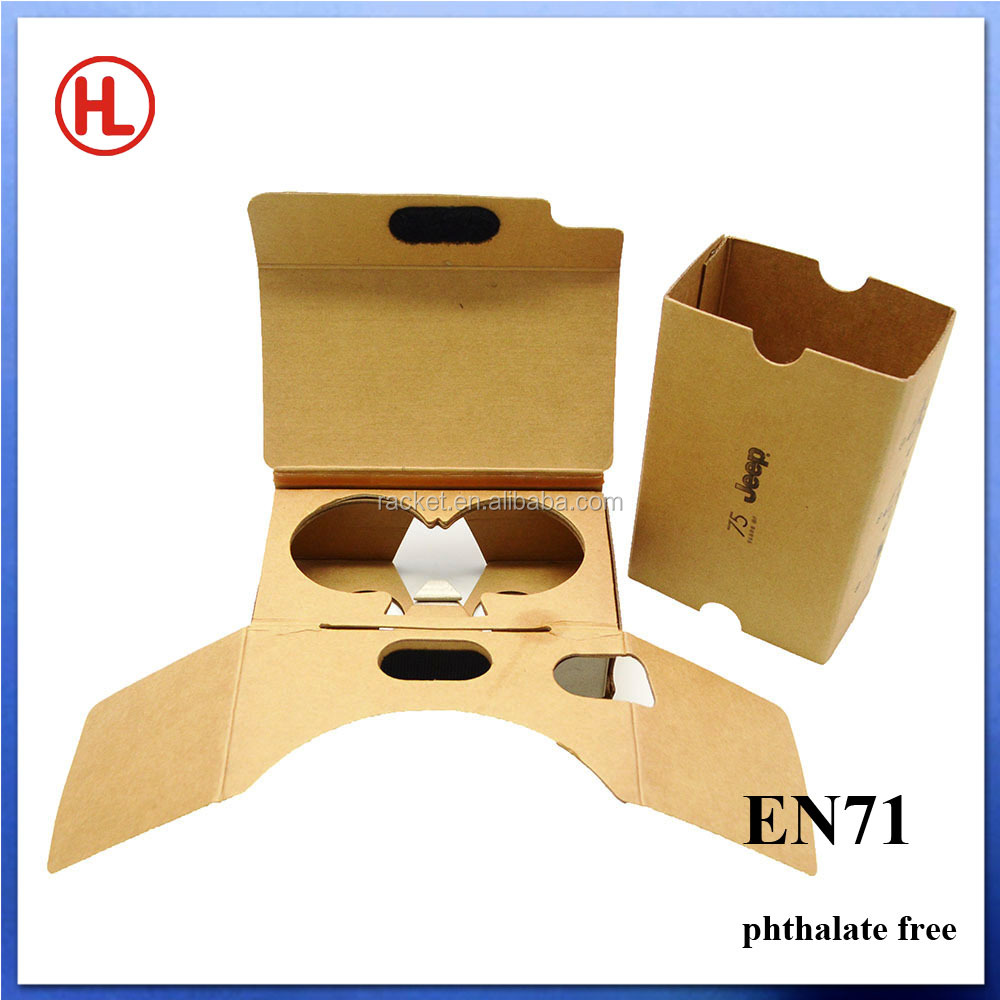 Best design for short-sighted people google cardboard vr 3d glasses customized your own logo