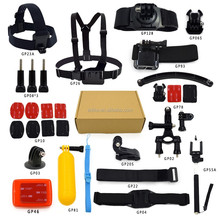 Hot selling Gopros accessoriesfor accessories Gopros, Go pro accessories set bundle for Gopros heros 3/4, Go pro bundle