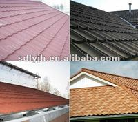 Arctic Blue color stone coated steel roofing for villa town house