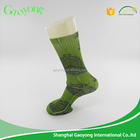 Winter season polyester men sublimation printed soprts socks