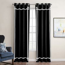 wholesale Hotel Blackout Curtain Cotton Fabric Window Curtains For Living Room