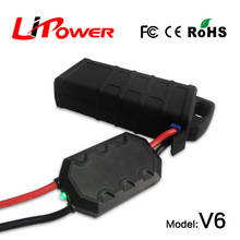 mini size 12000mAh 12v rc car battery jump starter car jumper cable with clips