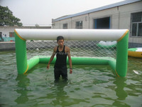 Floating inflatable water soccer goal, inflatable pool soccer goal