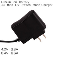 Constant voltage and current wall mount adapter charger bi-color indicator 11.1V 0.5A lithium battery charger
