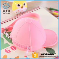 Girls wallets and High Quality Silicone Hat Purse
