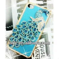 Luxury Designer Bling Crystal Blue Peacock Case for Apple Iphone 4 and 4s [Limited Edition]