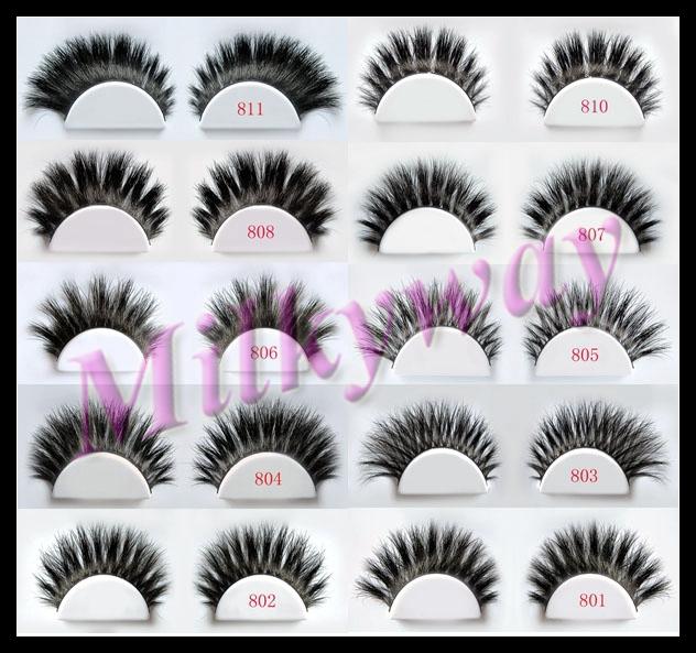 Milkyway fashion style full strip horse hair lashes 801