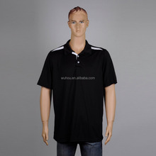 Cheap OEM wholesale Mens button contrast short sleeve running polo neck t-shirts