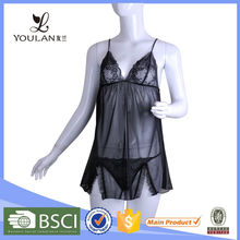 New Arrival Elegant Black Female Sexy Hot Fashion Show Lingerie