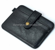 Genuine cow leather vintage mini wallet pocket card holder ID card holder