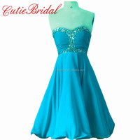 Blue High Waist Homecoming Dresses Short Mint Cocktail Dresses Crystals
