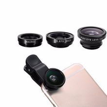 2017 fashional factory price 3 in 1 mobile phone camera lens