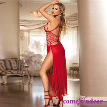 Manufactory Fast Delivery Transparent Nude Red Hot Sexy Girls Babydoll Nighty