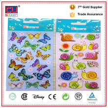 New design butterfly 3d epoxy floor stickers printed pattern scrapbooking stickers