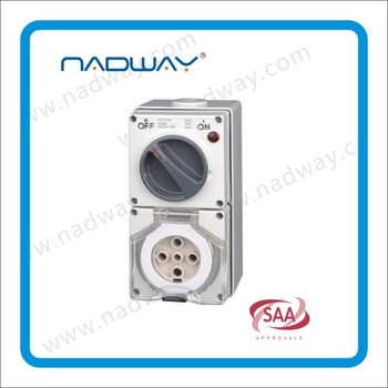 changeover switch switch socket single phase 56cv540 5flet/round pins switched socket outlets