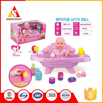 kids bath toys for Water bath pot with the doll