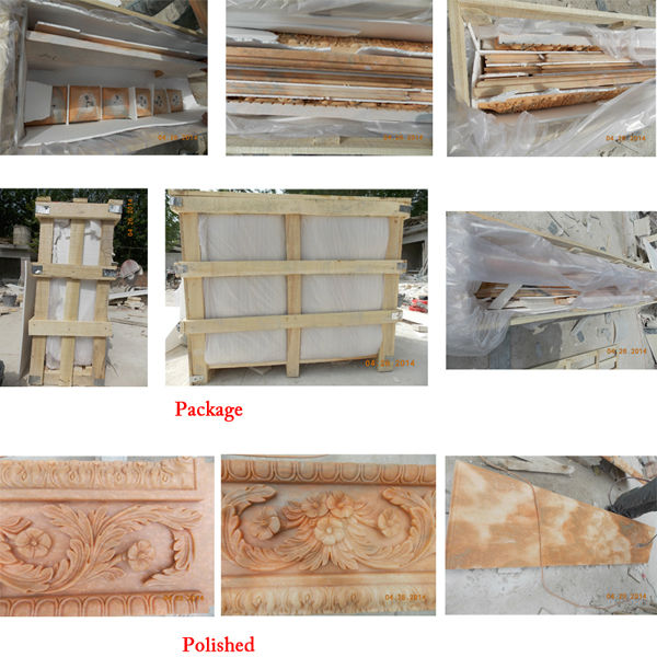 Free standing yellow marble fireplace marble fireplace for Indoor fireplace kits