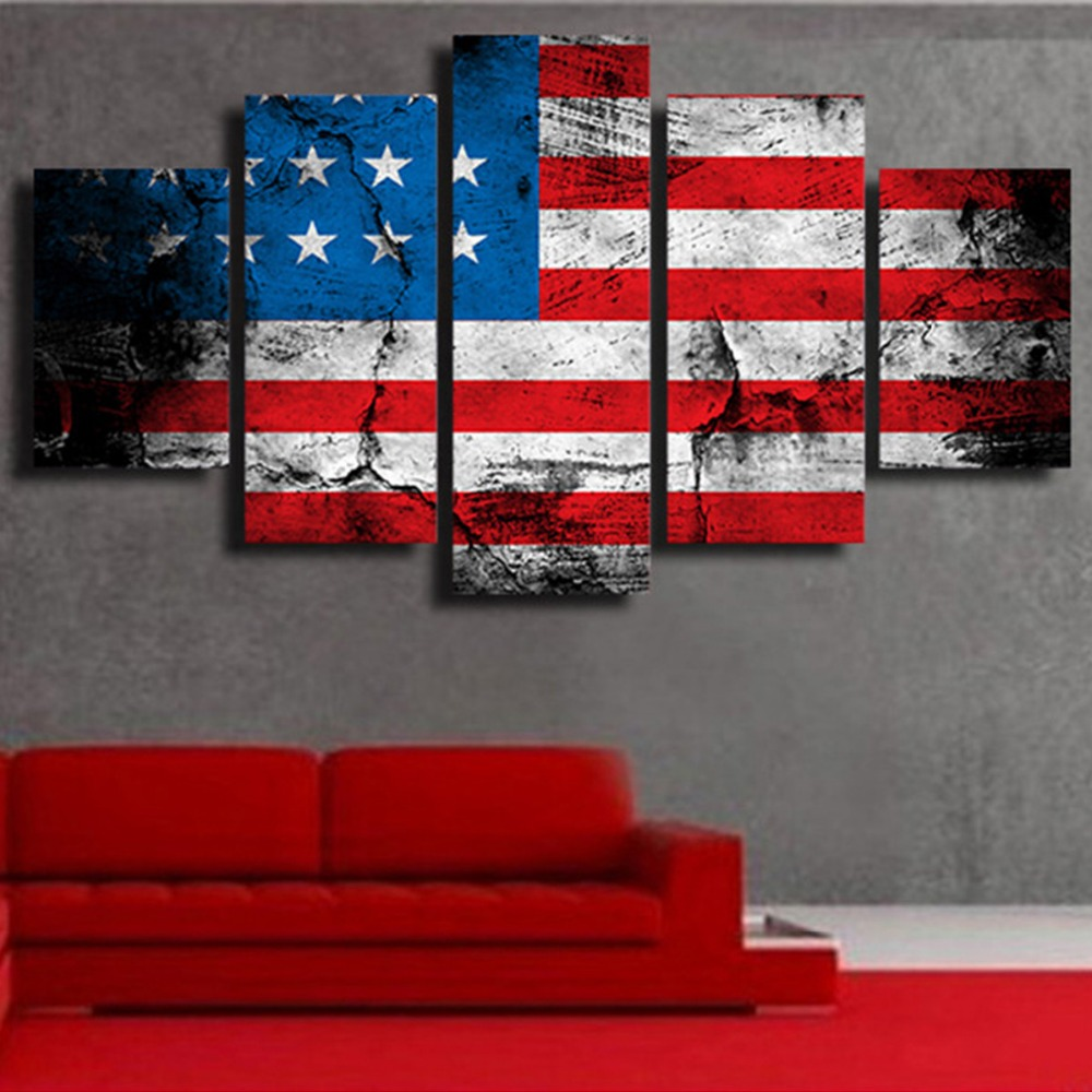 New Style Unframed Canvas Painting Art Printed Flag <strong>Pictures</strong> Painting Canvas Print Wall Art Home Decor Decoration