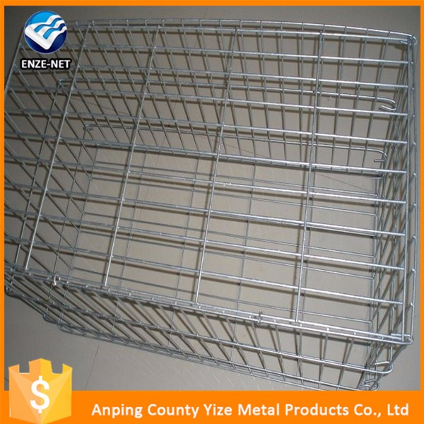 2-4mm steel wire Stone retainng walls gabion box block cage