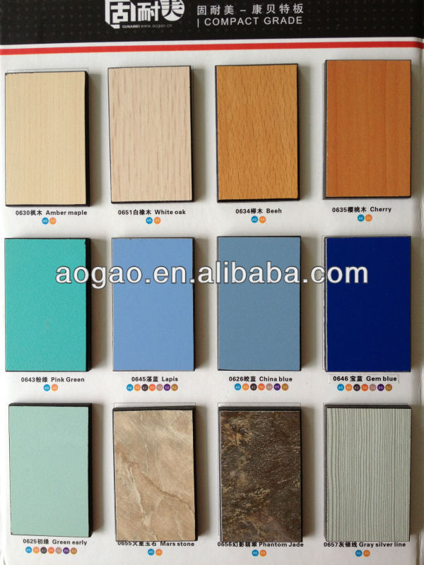 Aogao high pressure water-proof heat resistance compact hpl kitchen table top material