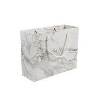 Elegant Gift Package Luxury Food Grade Shopping Marble Paper Bag