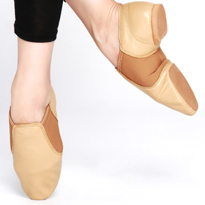 Wholesale Leather Dancing Jazz Shoe with Neoprene Stretch
