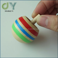 Top quality new style colorful wooden spinning top