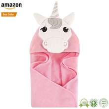 China Supplier Custom printing unicorn large hooded bath towels for kids