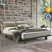 Italian Style Upholstered Fabric Bed Queen Bed Frame Latest Double Bed Designs Furniture