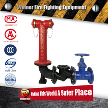 Fire water Pump Connector overground for fireman with safety gate