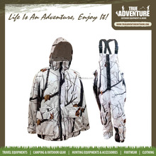 100% polyester camouflage waterproof heavy winter outdoor hunting clothing