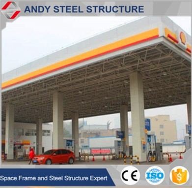 Steel entrance canopy /gas station used canopy for sale