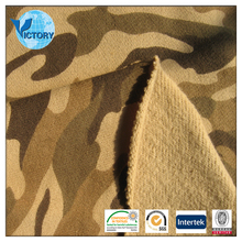 100% Cotton Camouflage French Terry Fabric