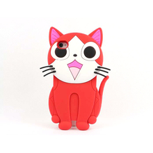 Custom phone cover silicone rubber phone case for girls with lovely and cute 3D design