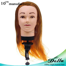 "20"" Real Hair Hairdressing Practice Training Head Model"