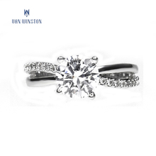 Fashion wholesale silver plated jewelry rings women wedding diamond ring