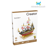 Adult 2660pcs Lagre Sailboat Building Blocks