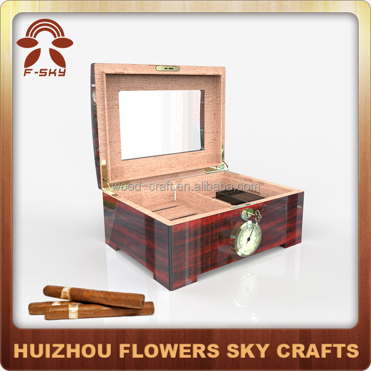 Manufacturing Desktop Wooden Humidor with Tray
