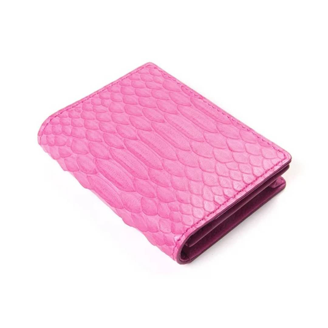 Genuine Python Skin Real Leather ID Credit Business Card Wallet Case